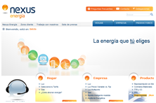 Web corporativa de Nexus Energía