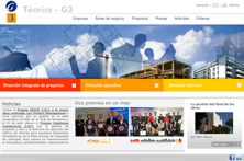 Tècnics G3 corporate website
