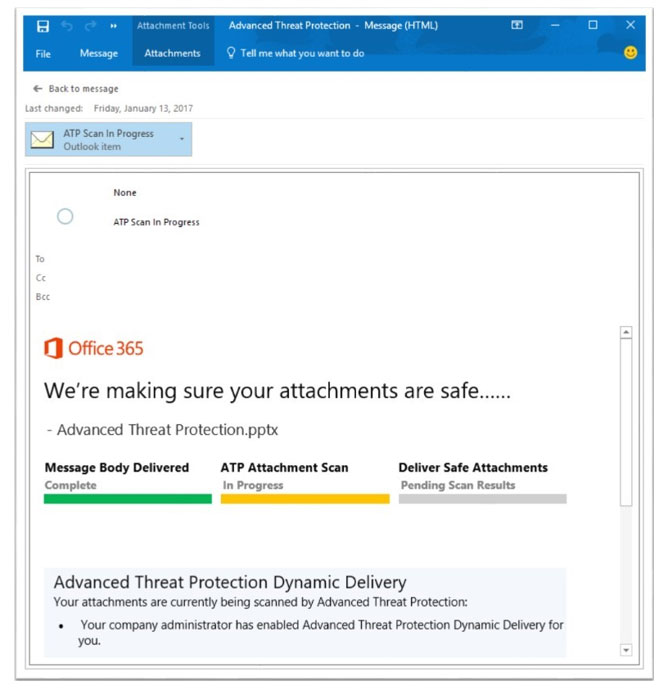 Advanced email protection with Office 365 Advanced Threat Protection