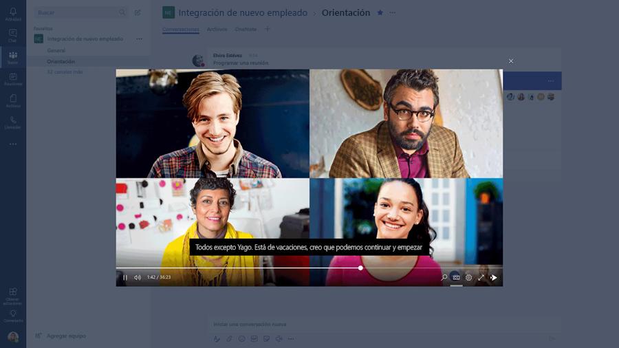 Plan 1 de Skype empresarial descontinuado