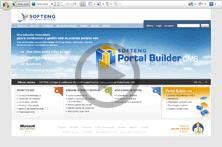 "Interfaz ""Edit-in-place"" de Portal Builder"
