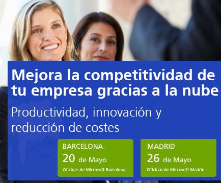 """MICROSOFT y SOFTENG organizan una nueva edición del evento """"Cómo impulsar la competitividad de tu empresa gracias a la nube"""""""