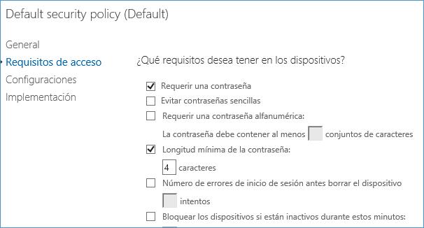 Cómo controlar los dispositivos con los que los usuarios acceden a Office 365