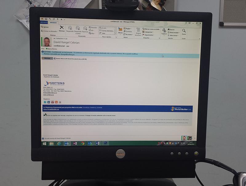 Proteger correos electrónicos desde Microsoft Office y IRM