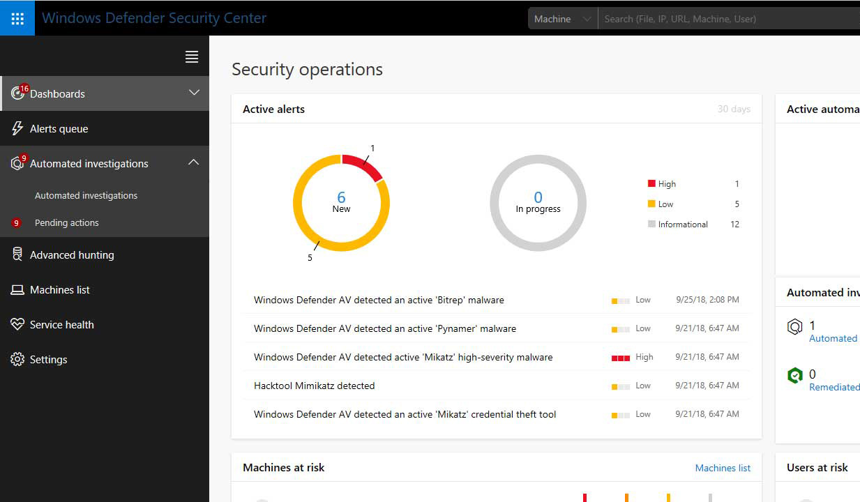 Windows defender advanced Threat Protection