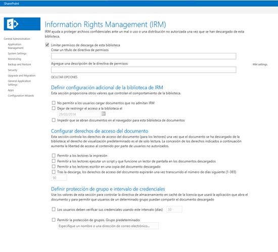 Proteger documentos almacenados en SharePoint- Parte V (IRM)