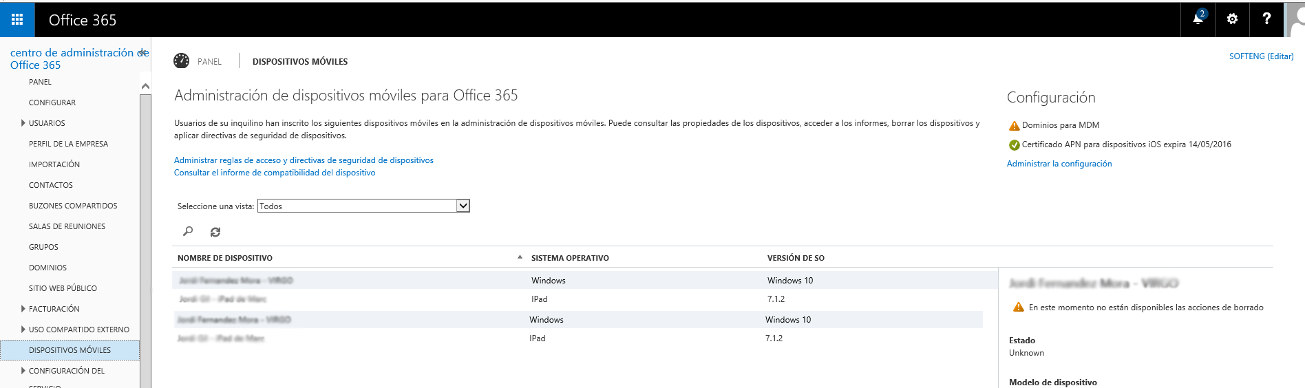 How to manage devices that can access Microsoft Office 365