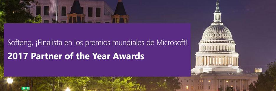 Softeng finalista premio mejor partner año 2017 Microsoft