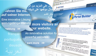 Softeng Portal Builder incorporates automatic translation of content, in Real time