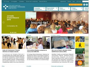 El Col·legi oficial d'infermeres i infermers de Barcelona estrena con éxito su nueva web con Portal Builder