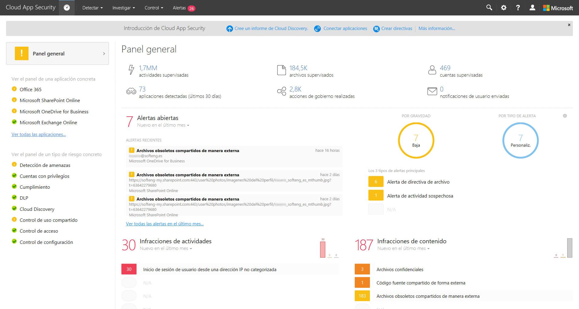 Descubre Microsoft Cloud App Security