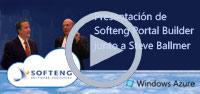 Presentació de Softeng Portal Builder costat de Steve Ballmer