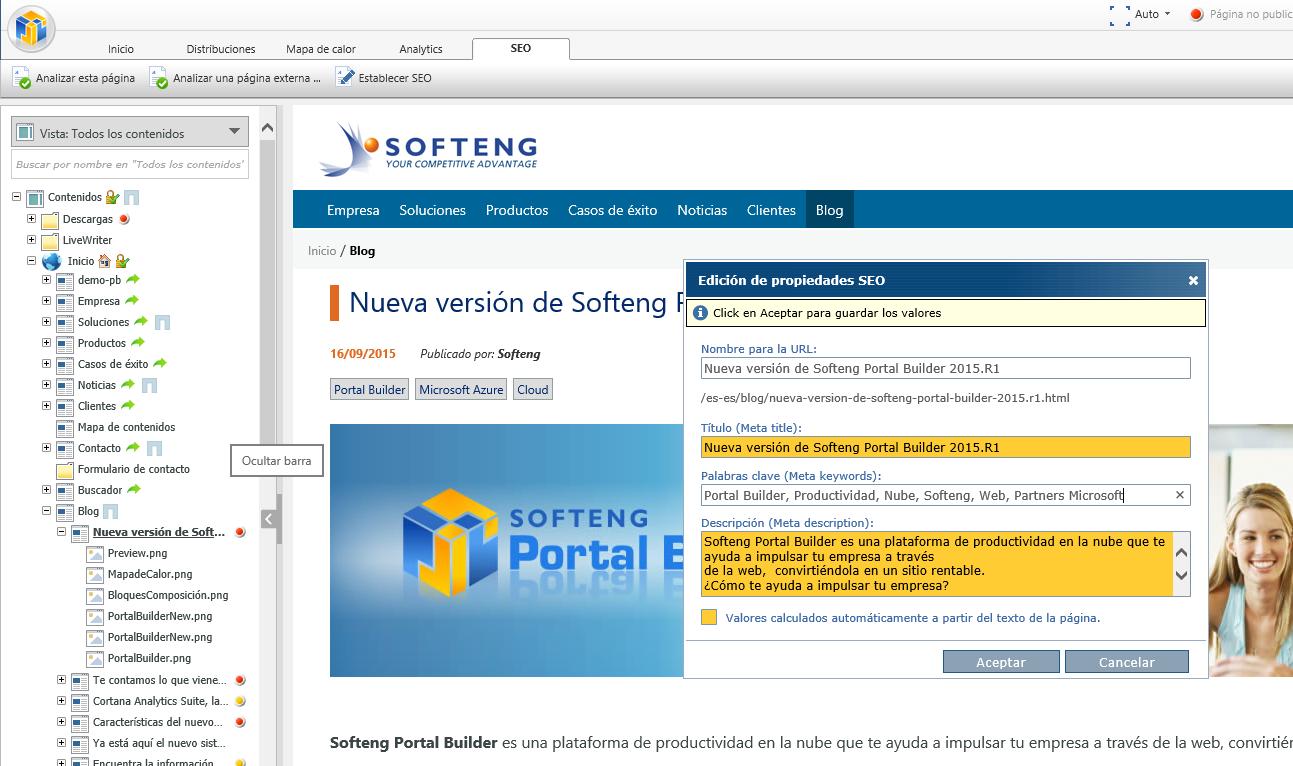 Nueva versión de Softeng Portal Builder 2015.R1
