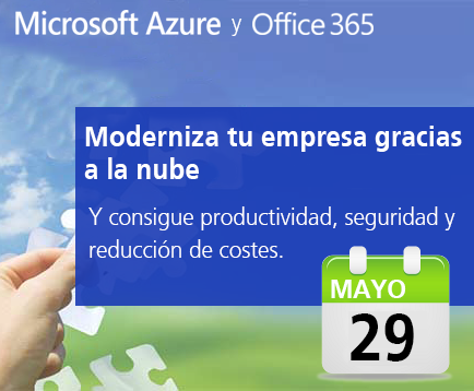 Set aside on 29 May for a new event on Office 365 and Azure